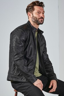 Signature Leather Racer Jacket