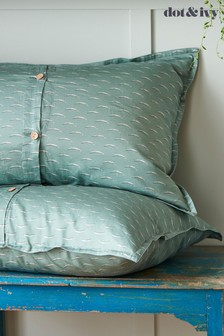 Set of 2 Dot & Ivy Forest Blue Pillowcases
