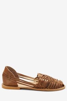 Плетеные кожаные  туфли гуарачи
