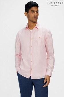 Ted Baker Sauss Long Sleeve Linen Blend Shirt