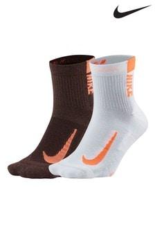 Lot de deux paires de chaussettes Nike Running roses