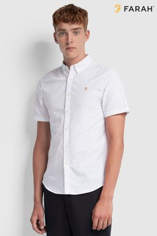 Farah White Brewer Slim Shirt
