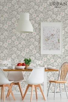 Urban Walls Pink Scandi Flower Wallpaper