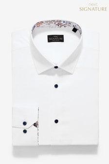 Signature Regular Fit Single Cuff Contrast Trim Shirt