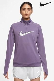 Nike Swoosh-Laufshirt mit 1/2 Reissverschluss