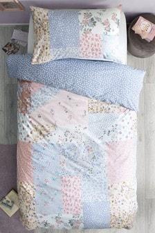 Pretty Patchwork Print Duvet Cover And Pillowcase Set