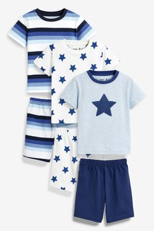 Star/Stripe Pyjamas Three Pack (9mths-8yrs)