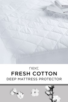 Breathable Deep Cotton Mattress Protector