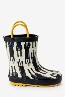 Panther Handle Wellies (Younger)
