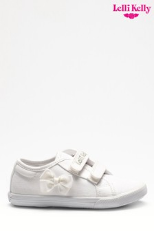 Lelli Kelly White Lily School Pumps