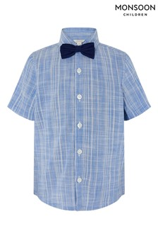 Меланжевая рубашка с галстуком-бабочкой Monsoon