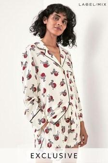 Mix/Holly Fulton Pyjama-Shorts mit Zebra-Print