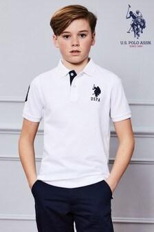 Рубашка поло из пике с большим логотипом U.S. Polo Assn.