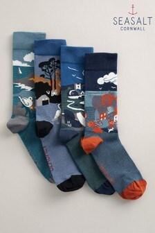 Men's Postcard 襪子一盒四雙