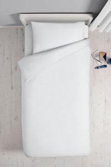 Unifarbenes, antibakterielles Set mit Bettbezug und Kissenbezug