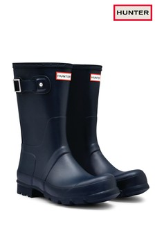 Hunter Navy Original Short Wellington Boots