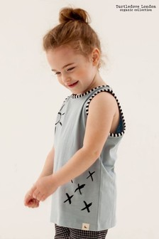 Turtledove London Blue Organic Cotton Sunshine Kisses Vest