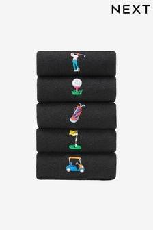 Ponožky s vyšitým vzorom, 5 párov