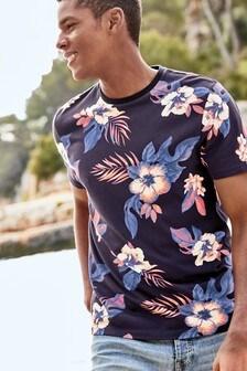 Koszulka w motywy kwiatowe