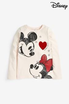 Minnie Mouse™ und Mickey Mouse™ T-Shirt mit Herz (3-16yrs)