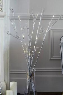 Lit Glitter Twigs