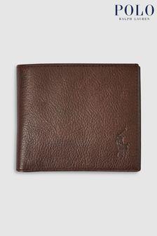محفظة طيتين جلدية من Polo Ralph Lauren