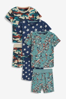 3 Pack Short Pyjamas (9mths-12yrs)