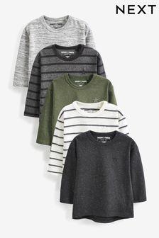 5 Pack Long Sleeve T-shirts (3mths-7yrs) (620712)   $27 - $33