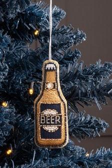 Beaded Beer Bottle Bauble (620716)   $7
