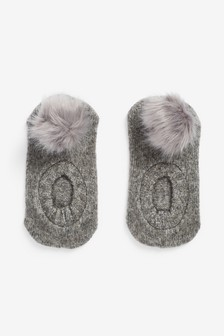 Pom Footsie Socks