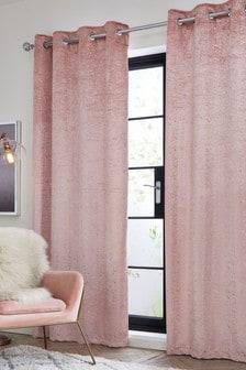 Metallic Speckle Eyelet Curtains