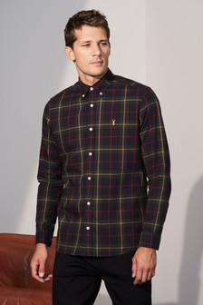 Window Pane Check Regular Fit Shirt