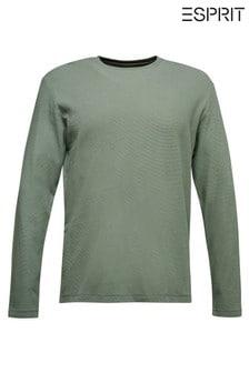 Esprit Green Long Sleeved Waffle T-Shirt