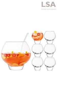 LSA International Rum Mixer Schüssel mit Gläsern im Set