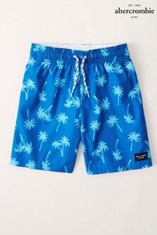 Short de bain Abercrombie & Fitch imprimé palmiers