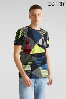 Esprit T-Shirt mit Grafikmuster, schwarz
