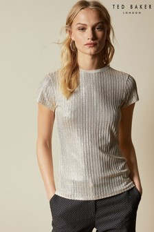 Ted Baker Catrino Metallic Fitted Tee