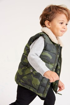 Borg Collar Gilet (3mths-7yrs)