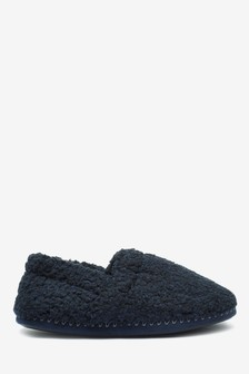 Fluffy Close Back Slippers