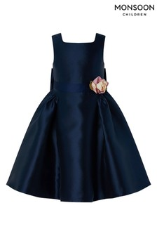 Monsoon S.E.W Recycled Navy Pearl Duchess Dress