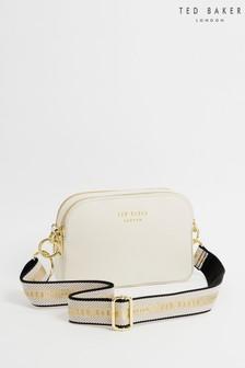 Ted Baker Cream Amerrah Branded Webbing Strap Camera Bag