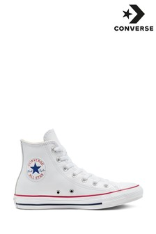 Converse White Leather High Trainers