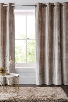 Plush Velvet Eyelet Lined Heavyweight Curtains