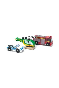 Le Toy Van Wooden Emergency Vehicles