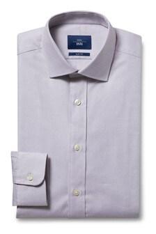 Moss 1851 Slim Fit Grey Single Cuff Egyptian Cotton Shirt