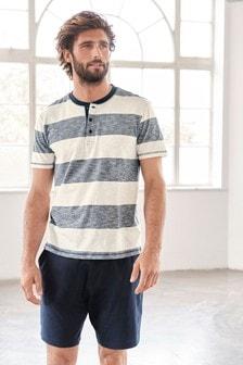 Block Stripe Short Pyjama Set