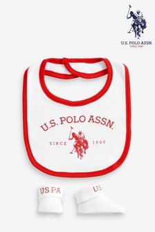 Conjunto de babero y patucos de U.S. Polo Assn.