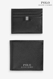 Подарочный набор с черным кожаным бумажником Polo Ralph Lauren
