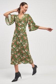 Midi šaty s potlačou