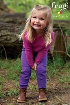 Frugi Purple Organic Cotton Lightweight Kneepatch Cuffed Joggers
